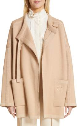 Chloé Wool Blend Knit Jacket