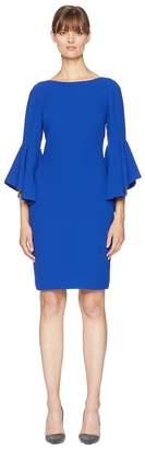 Badgley Mischka Bell Sleeve Sheath Women's Dress