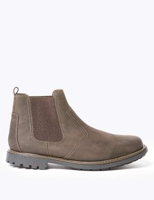 Marks and Spencer Wide Fit Leather Pull-On Chelsea Boots