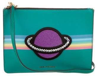Marc Jacobs Leather Embroidered Shoulder Bag