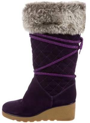 Stuart Weitzman Quilted Knee-High Boots