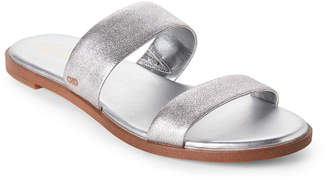 Cole Haan Silver Findra Double Band Flat Sandals