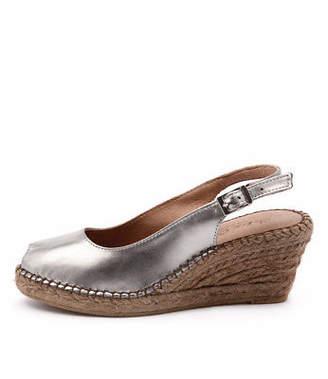 A.N.A New Sofia Cruz 11 Sc Pewter Metallic Womens Shoes Casual Sandals Heeled