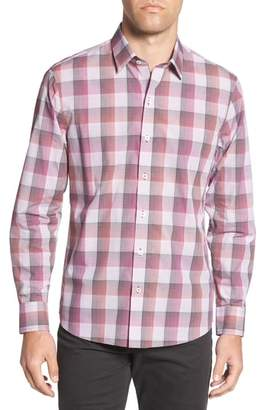 Zachary Prell Greene Regular Fit Gingham Sport Shirt