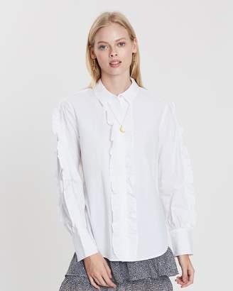 Maison Scotch Ruffled Shirt