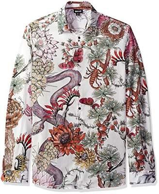 Just Cavalli Men's Desert Garden Woven Shirt
