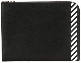 Off-White large striped clutch