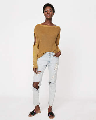 Express Cut-Out Shoulder Sweater
