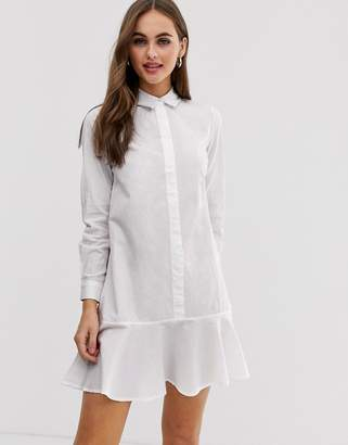 Asos DESIGN Peplum mini shirt dress