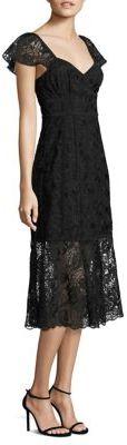 Nanette Lepore Firefly Scalloped Trim Dress $498 thestylecure.com