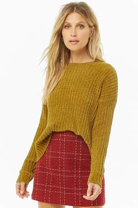 Forever 21 Drop-Shoulder Chenille Sweater
