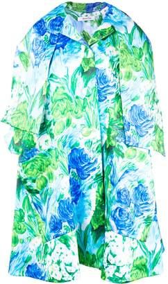 Floral Printed Dress Coat
