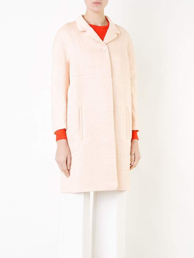 Carven textured midi coat
