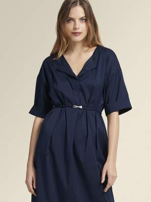 DKNY Poplin Belted Shirt Dress