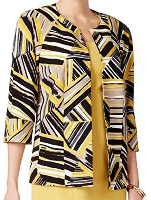 Kasper Women's Abstract Printed Scuba Crepe Jacket