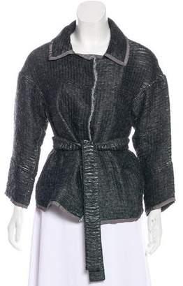 Alberta Ferretti Metallic Tie Jacket