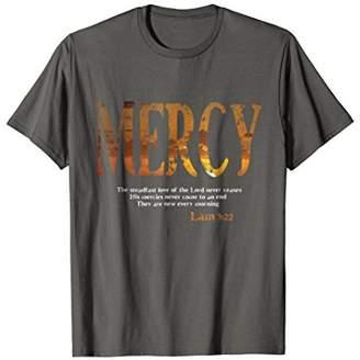 Christian Scripture T-Shirt - Mercy Lam. 3:22
