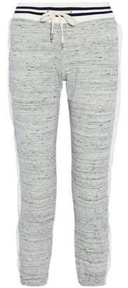 Splendid Gauze-Trimmed Mélange Cotton-Blend Terry Track Pants