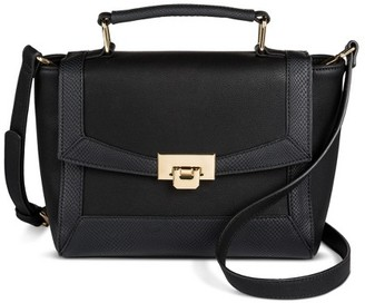 Merona Women's Satchel Clasp Closure Black Merona $34.99 thestylecure.com