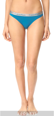 Calvin Klein Underwear Radiant Cotton Thong $13 thestylecure.com