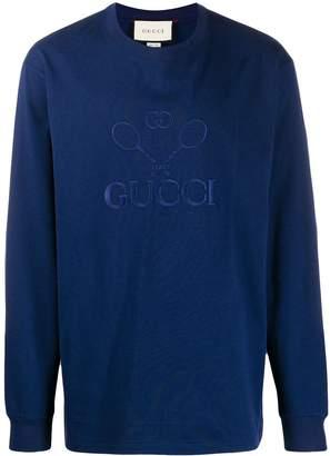 Gucci embroidered logo sweatshirt