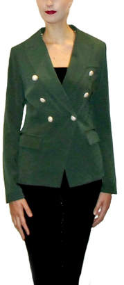 Maryley Green Double-Breasted Blazer