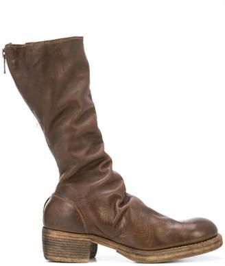 Guidi draped high boots