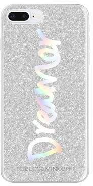 Rebecca Minkoff Dreamer Silver Glitter Case For iPhone 8 Plus & iPhone 7 Plus