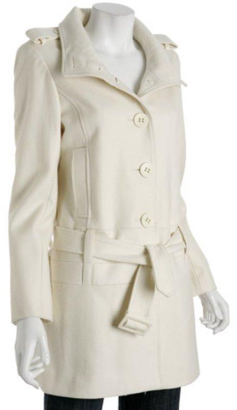 Via Spiga winter white wool blend 'Nebbiolo' belted coat