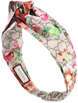 Gucci Printed silk-satin headband