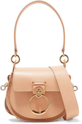 Chloé Tess Small Leather And Suede Shoulder Bag - Sand