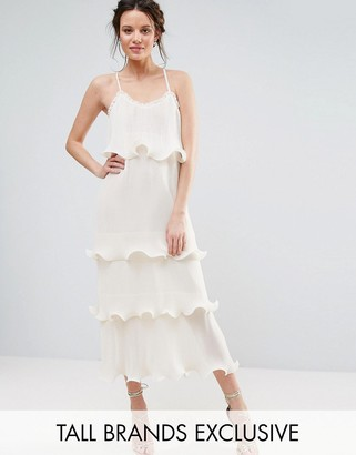 True Decadence Tall Pleated Layer Cami Dress