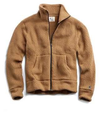 Todd Snyder + Champion Polartec Fullzip Jacket in Camel