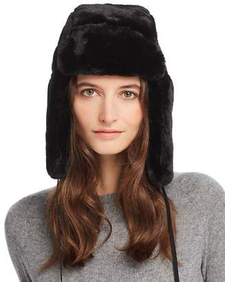 Echo Suede-Tie Faux Fur Trapper Hat