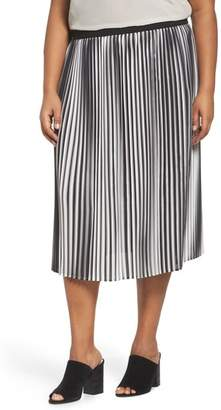 Eileen Fisher Ombre Pleat Skirt