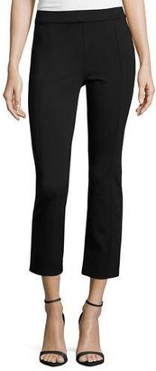 Tory Burch Stacey Ponte Cropped Pants, Black $185 thestylecure.com