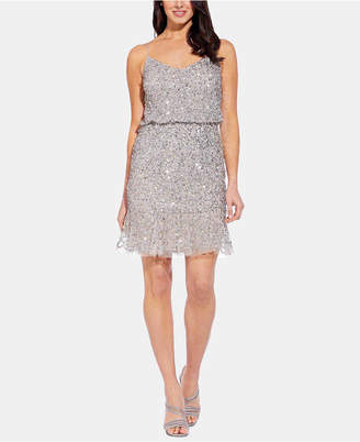 Adrianna Papell Embellished Blouson Sheath Dress