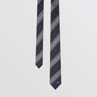 Burberry Slim Cut Striped Silk Jacquard Tie