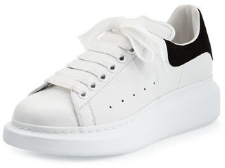 Alexander McQueen Leather Lace-Up Platform Sneaker $575 thestylecure.com