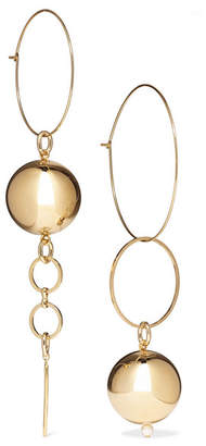 Mounser - Solar Gold-plated Faux Pearl Earrings