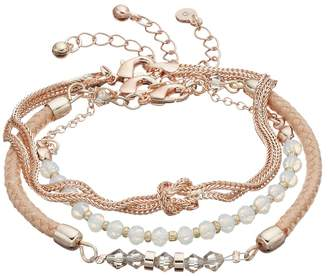 LC Lauren Conrad Beaded, Woven & Knotted Bracelet Set $16 thestylecure.com