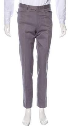 Gucci Flat Front Straight-Leg Pants