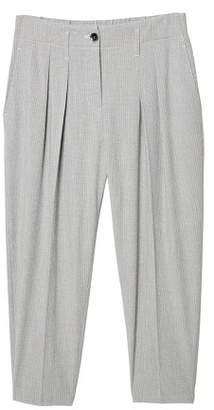 MANGO Texture striped trousers
