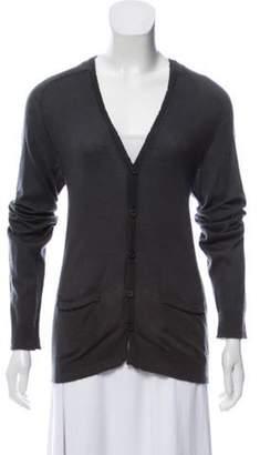 Balmain Button-Up Cashmere Cardigan Button-Up Cashmere Cardigan