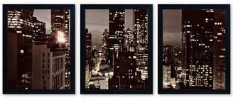 Ariane Trademark Global Moshayedi 'NYC After Dark' Framed Multi-Panel Wall Art Set