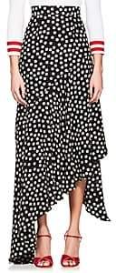 Juan Carlos Obando Women's Polka Dot Silk Asymmetric Skirt - Black