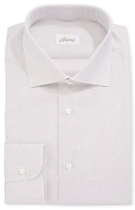 Brioni Dot Pattern Cotton Dress Shirt