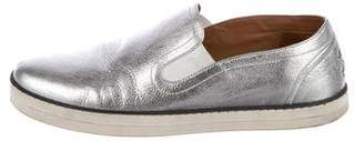 Bottega Veneta Metallic Slip-On Sneakers