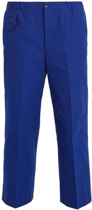 Gucci Mid-rise wide-leg cotton trousers