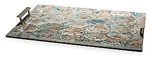 Mother of Pearl Ladorada Ladorada Sterling Silver, Mother-Of-Pearl & Wood Serving Tray
